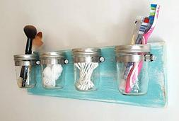 Mason Jar Decor by Out Back Craft Shack: Bathroom Toothbrush
