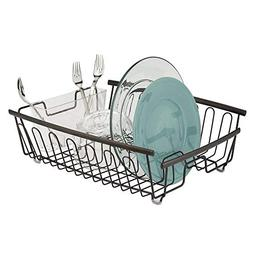 mdesign kitchen dish drainer rack