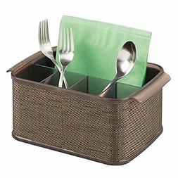 mDesign Silverware, Flatware Caddy Organizer for Kitchen Cou