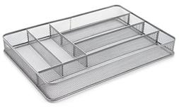 Mesh Large Cutlery Tray Silverware Storage Container Metal O