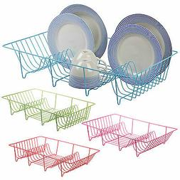 Metal Wire Coated Dish Rack Kitchen Sink Drainer Washing Up