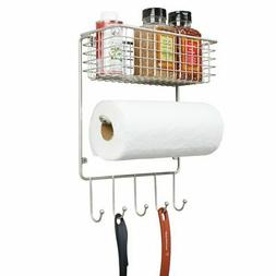 mDesign Metal Wire Farmhouse Wall Decor Paper Towel Holder w