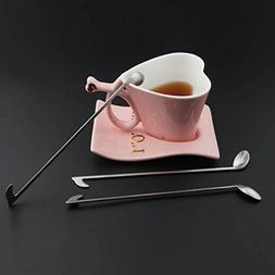 1 Pcs Musical Note Shape Long Handled Stainless Steel Spoons