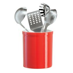 OGGI New Ceramic 7 Inch Utensil Holder 5406.2 - Red