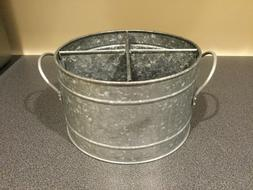 New Galvanized Metal Utensil Holder Caddy