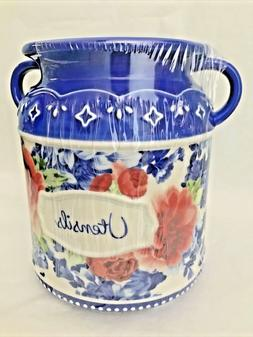 NEW! PIONEER WOMAN HERITAGE FLORAL UTENSIL HOLDER~NEW OCT 20