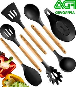 Premium Cooking Utensils Set For Nonstick Cookware - Silicon
