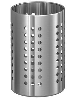 """IKEA ORDNING Stainless Steel Large 7"""" Kitchen Utensil Caddy"""