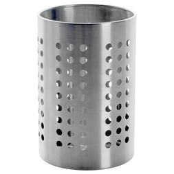 "IKEA ORDNING Stainless Steel Large Kitchen 7"" Utensil Caddy"