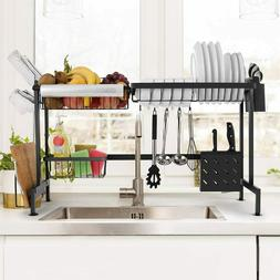over the sink dish drying rack stainless