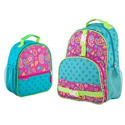 Stephen Joseph Girls Paisley Backpack and Lunch Box