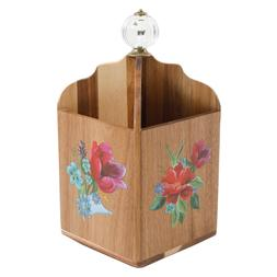 Pioneer Woman Spring Bouquet 4-Section Utensil Holder Acacia