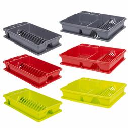Plastic Dish Drainer Plate Cutlery Rack Kitchen Sink Utensil