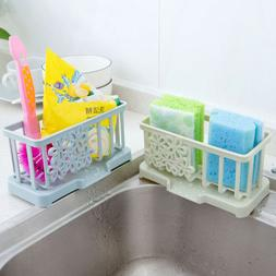 Plastic Racks Organizer Storage Kitchen Sink Utensils Sponge
