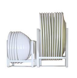 Metal Plate/Dish Rack Organizer for Kitchen Counter, Cabinet