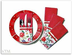 poppies strawberries and daisies set of 4