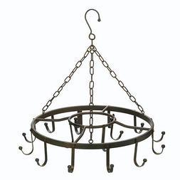 Pot And Pan Hanging Rack, Antique Cast Iron Pot Rack Kitchen