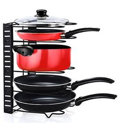 Pot Organizer Cookware Holder Foldable - 5 Compartments - Sh