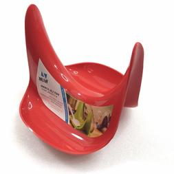 Hutzler Pot Lid Stand and Spoon Rest, Red New
