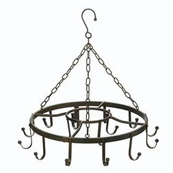 Pot Racks Ceiling, Overhead Hanging Pot And Pan Rack, Black