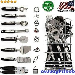 Premium Quality Stainless Steel Kitchen Utensil Set With Hol