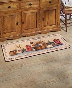 "The Lakeside Collection 52"" Primitive Country Kitchen Rug"