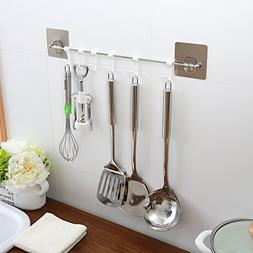 Rail Holder Kitchen Utensils Hanging Rack Wall Mount Stainle