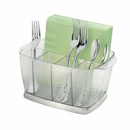 InterDesign Rain Silverware, Flatware Caddy Organizer for Ki