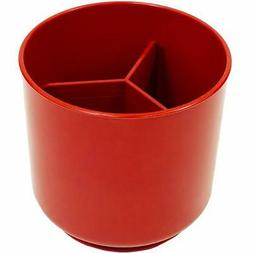 Red Extra Large and Sturdy Rotating Utensil Holder with No-T