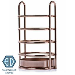 rose gold kitchen utensil holder wire copper