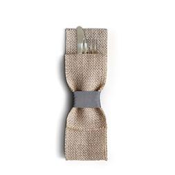 Wild Leaf Tableware Burlap Silverware Pockets . Rustic & Ele