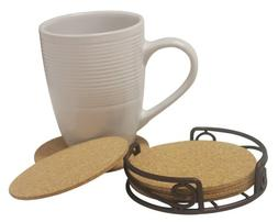 Home Basics Scroll Collection Coaster Set