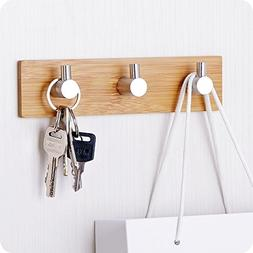 Small Key Holder Wall, Self-Adhesive Wall Hooks Solid Stainl