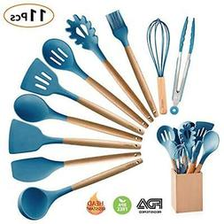 Silicone Cooking Utensils Kitchen Set Holder, 10 Pieces Acac