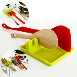 Silicone Kitchen Utensil Spoon Holders Heat Resistant Rack F