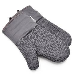 LA Sweet Home Silicone Oven Mitts Flower Pattern Heat Resist