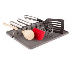 Tomorrow's Kitchen Silicone Utensil Rest XL, Grey