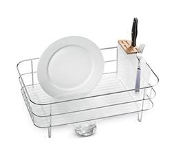 simplehuman Kitchen Slim Wire Frame Dish Rack With Removable