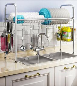 Single layer Dish Racks Over Sink Drying Drainer with Kitche