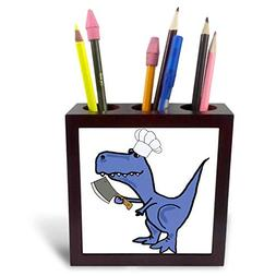 3dRose All Smiles Art Sports and Hobbies - Funny T-rex Dinos