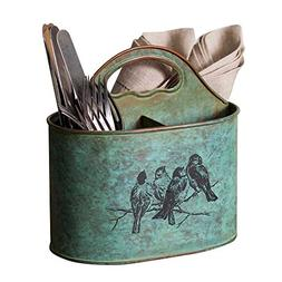 Songbirds Divided Utensil Caddy | Silverware Organizer and C