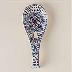 spoon holder Spoon Rest Ceramic Blue and white Hand crafted