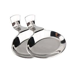 Mocrux Small Spoon Rest 100% Food Grade Stainless Steel Spoo