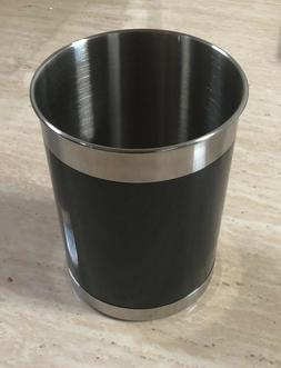 "OGGI Stainless Steel black wall Utensil Holder, 5"" W x 6.25"""
