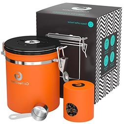Coffee Gator Stainless Steel Container - Canister with co2 V
