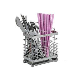 Stainless Steel Hanging 2 Compartments Mesh Utensil Drying R