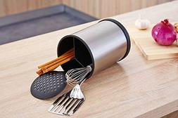 stainless steel kitchen utensil holder rotating cooking