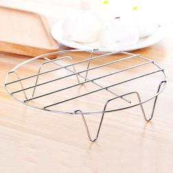 Stainless Steel Round Cooking Food Tray Pot Holder Steamer R