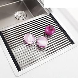 Stainless steel sink dish drying rack,Drain basket sink drai