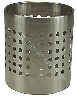 Stainless Steel Utensil Cutlery Holder Caddy Stand Rack Pot